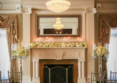 Grand SalonFireplace Ceremony by Beau Vaughn Photography