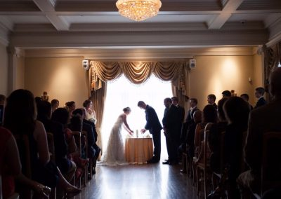 Grand Salon West Window Ceremony by Freeland Photography