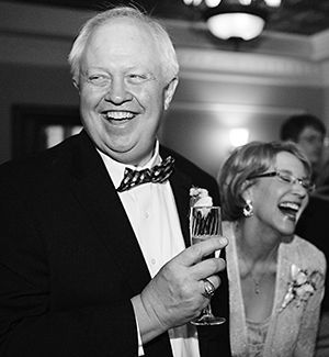 Barb and Ken Saathoff enjoying their son Danny's wedding reception at Loose Mansion in 2015.