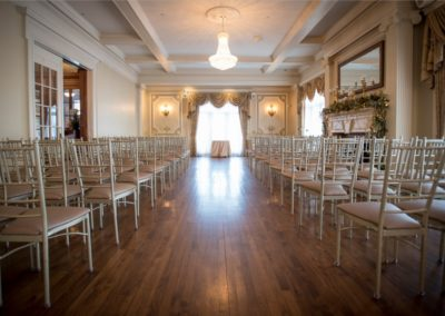 Grand Salon West Window Ceremony by Beau Vaughn Photography